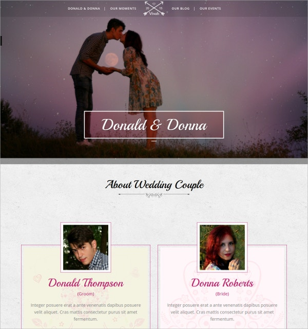 Wedding Album WordPress Theme $49
