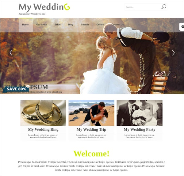 design wedding wordpress theme