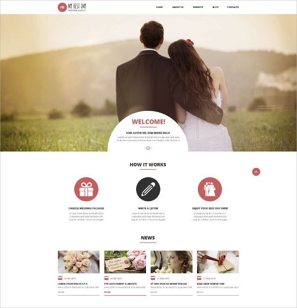 Wedding Consultancy WordPress Theme $75