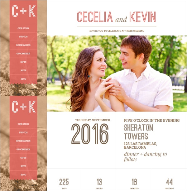 Responsive Wedding Ceremony WordPress Theme $44