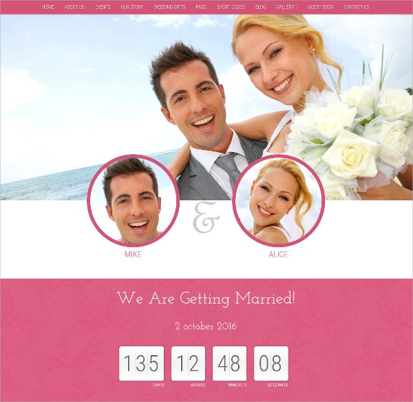 WordPress Personal Wedding Theme $49