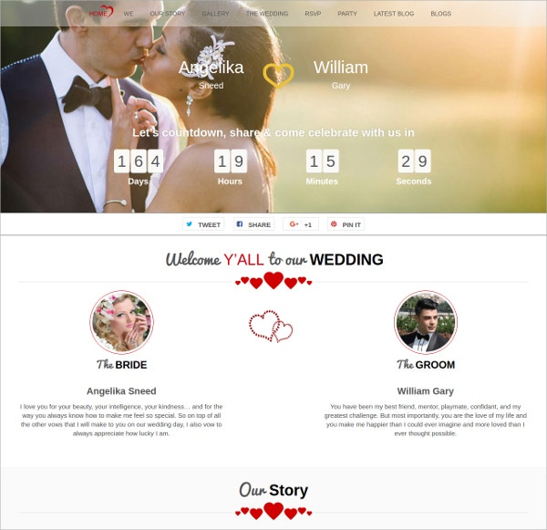 modern free download wordpress wedding theme