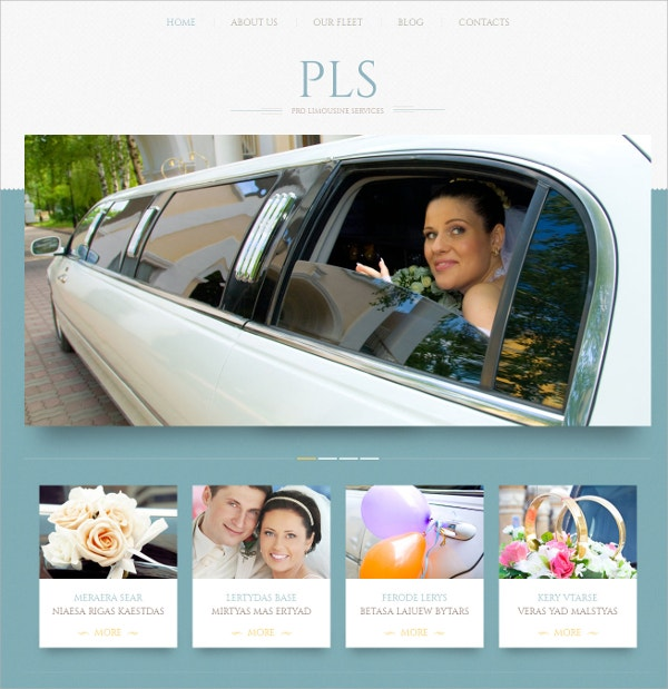 Wedding Services Responsive WordPress Theme $75