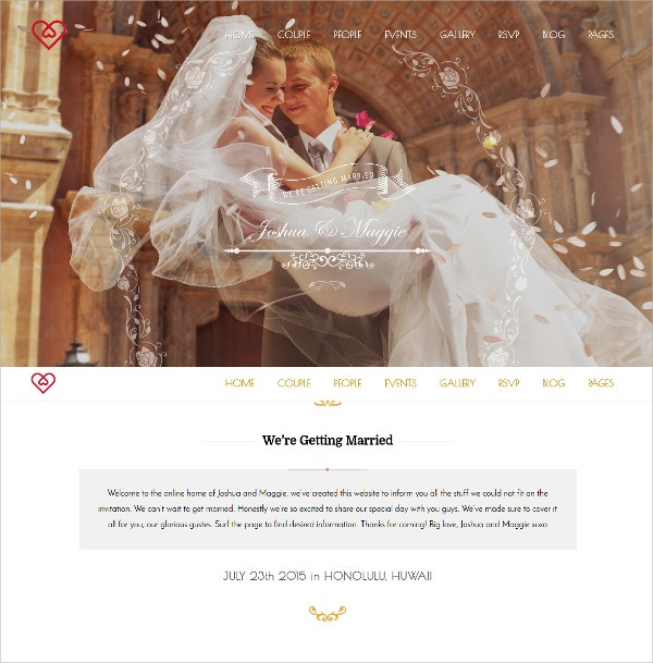 Wedding Suite WordPress Theme $59