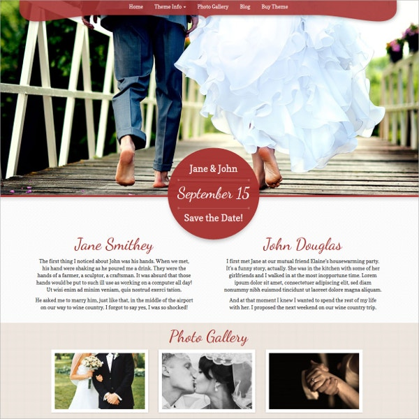 WordPress Pretty Wedding Theme $49