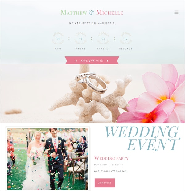 Elegant Wedding WordPress Theme