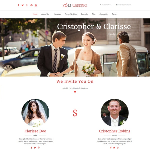 Wedding Photography WordPress Theme $29