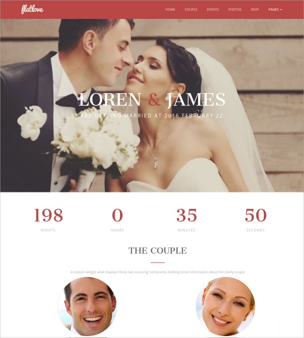 Single Page Wedding WordPress Theme