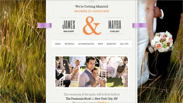 Stunning Wedding WordPress Theme $45
