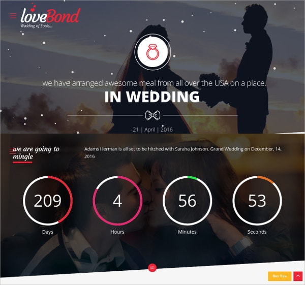 wedding event wordpress theme