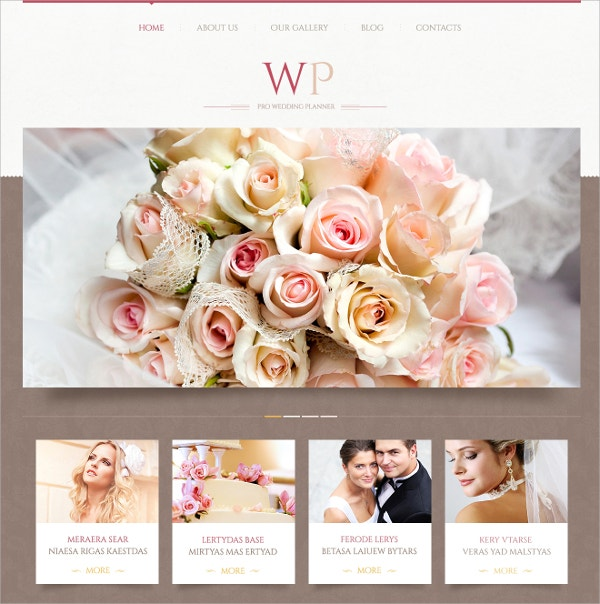 Creative Wedding Planner WordPress Theme $75