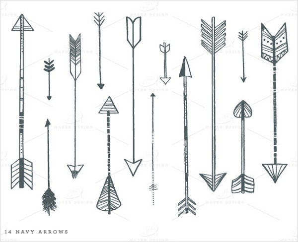 Arrow Clip Photoshop Brushes