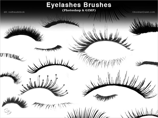 Eyelashes Photoshop Brushes