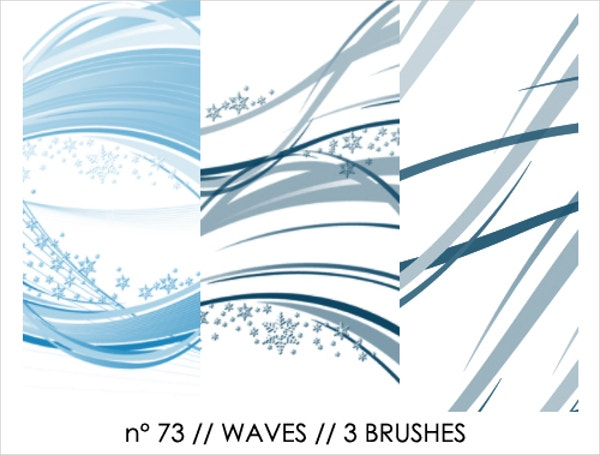 Waves Photoshop Brushes