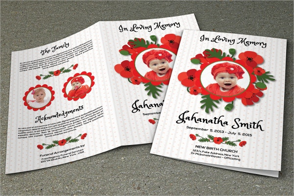 Child Funeral Memorial Program Template