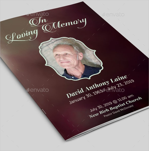 In Loving Memory Funeral Program Template