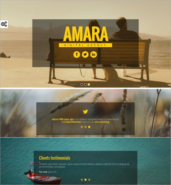 Animated Single Page Website Template $14