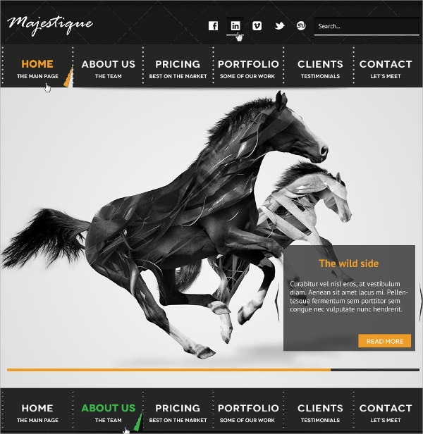 Beautiful Single Page Website Theme $12