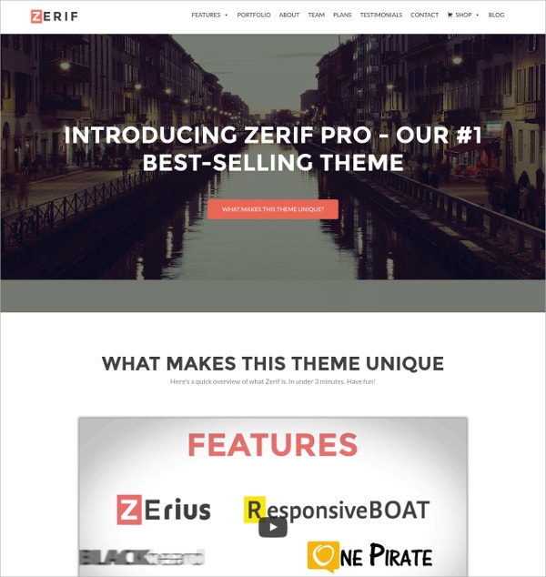 Business One Page WordPress Website Theme