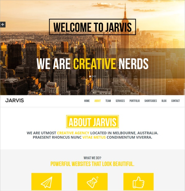Agency Single Page Parallax Website Theme $17