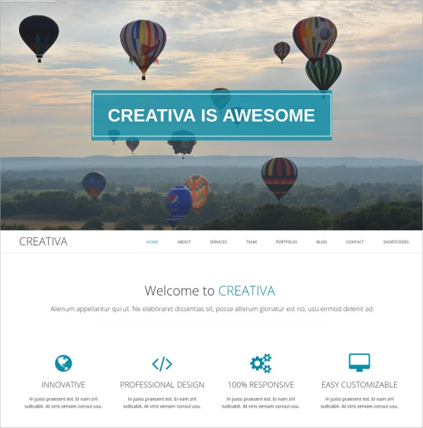 Clean Single Page Parallax Website Theme $45