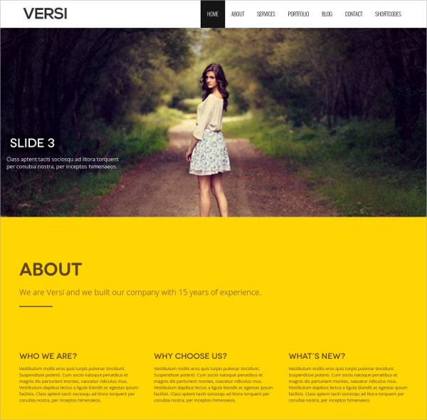 Creative Single Page WordPress Website Theme $39