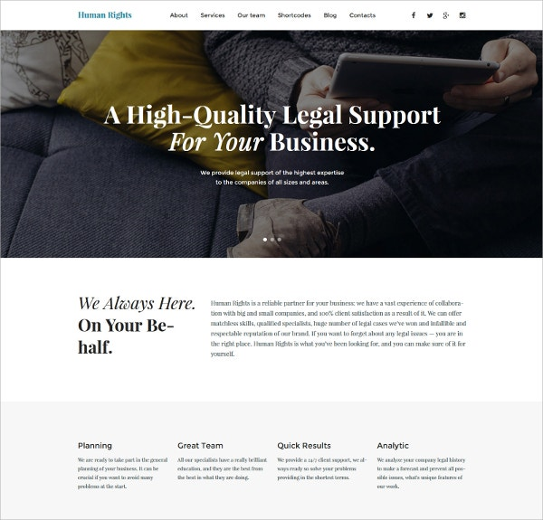 Business Single Page WordPress Website Theme $79