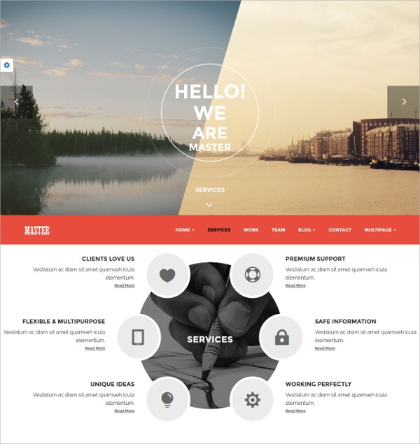 Modern Single Page Portfolio Website Theme $44