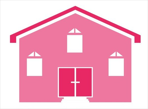 pink house icon