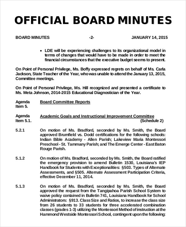 official board minutes1