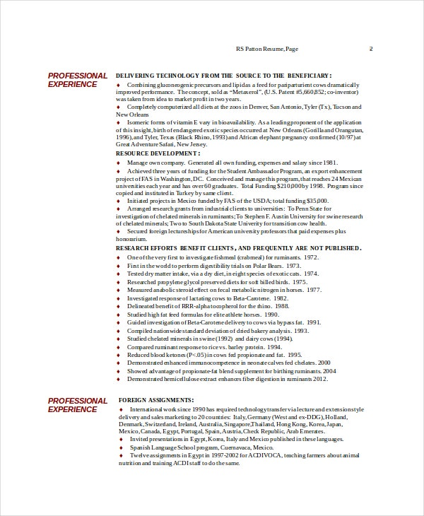 Nutritionist Resume Template 7 Free Word Pdf Documents