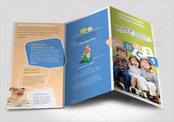 Preschool Tri Fold Brochure