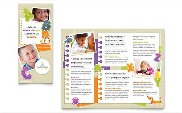 21 preschool brochure free psd ai eps format download for Preschool brochure template