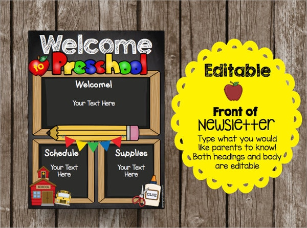 preschool welcome brochure