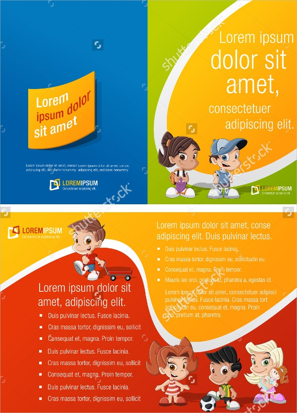 Colorful Preschool Brochure