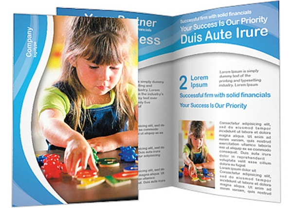 preschool education brochure template
