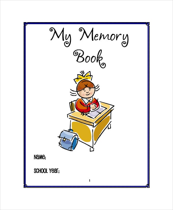 memory book template