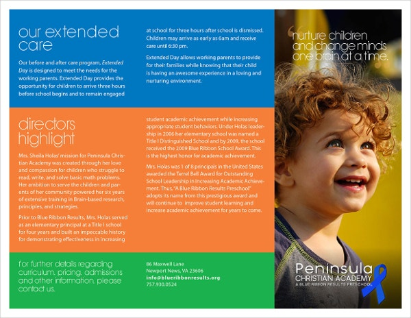 Christian Preschool Brochure