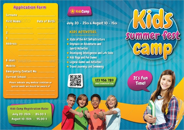 Preschool Kids Summer Camp Brochure
