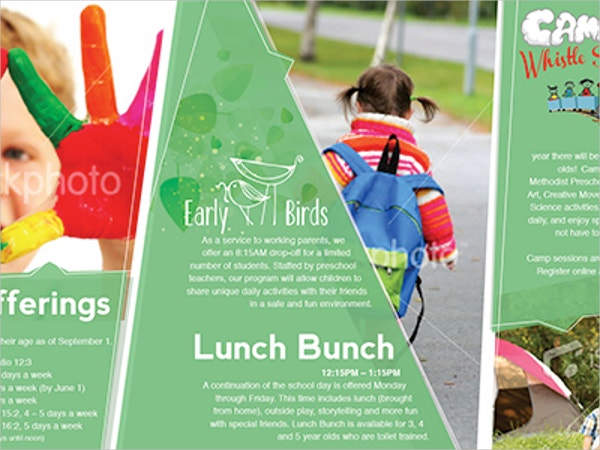 green preschool brochure