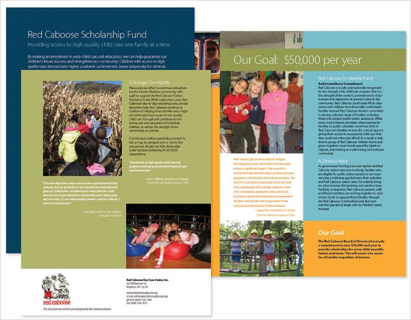 Fundraising Brochure for Preschool