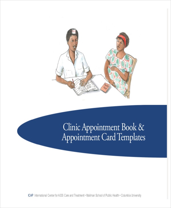 clinic appointment book template