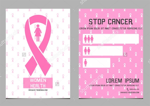 pink breast cancer flyer
