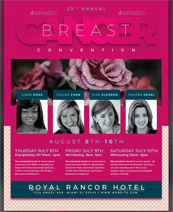 breast cancer conference flyer template