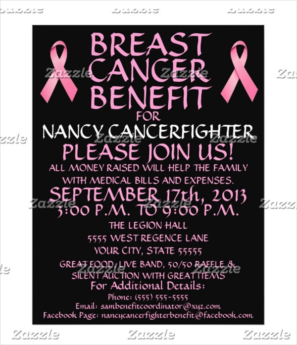 custom breast cancer benefit flyer