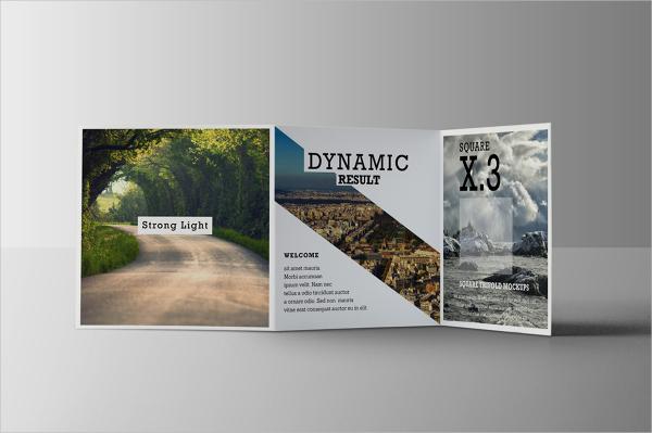 square tri fold brochure