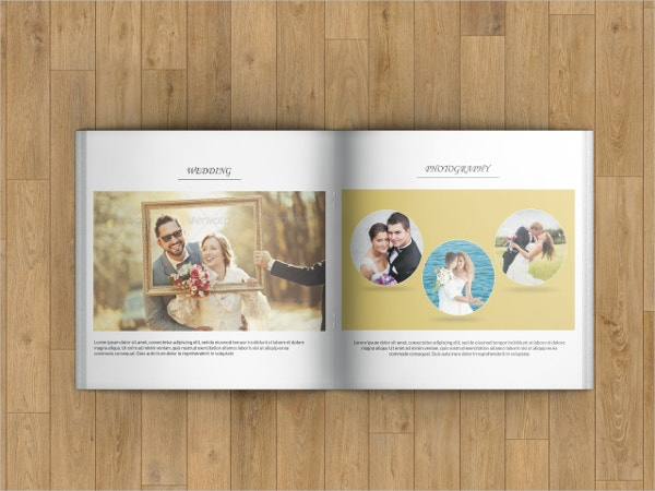 wedding photography square brochure
