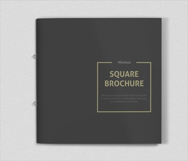 minimal square brochure