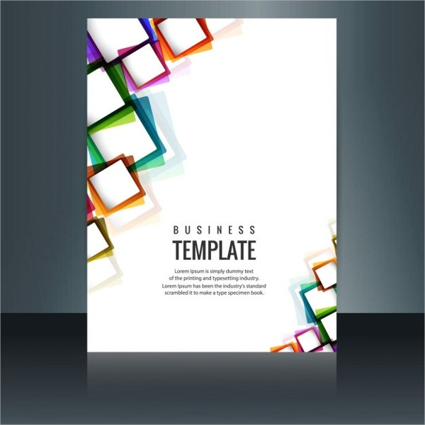 modern brochure of squares free vector
