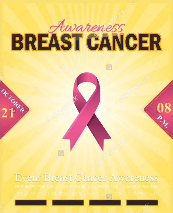 breast cancer promotional flyer